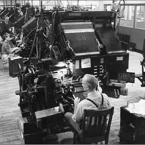 Back When Stop The Presses Had Some Real Meaning Linotype Machine Was State Of Art For Newspaper Printing It Been Since 1884