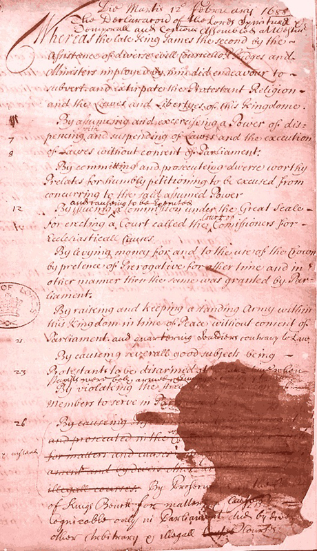 The English Bill of Rights of 1689 | Beaufort County Now
