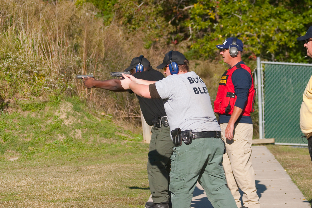 Firearms Training During A Recent BLET Academy At Beaufort